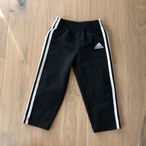 Adidas black pants with stripes